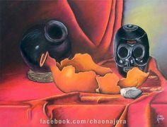 Bodegon Oaxaca, Pastel sobre papel canson 48.5 cm x 63 cm, $200.°°, No esta enmarcado