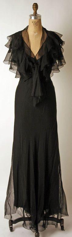 Dress, Evening  Nettie Rosenstein  (American, 1890–1980)  Date: 1930s Culture: American Medium: silk