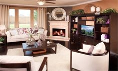 Fireplace makes a nice focal point in this living room from @Lennar Dallas