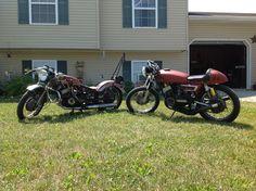 72 Yamaha R5 and 74 Yamaha RD350