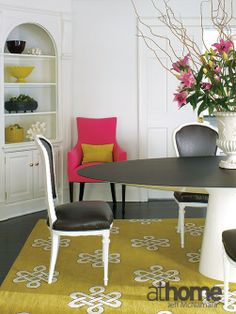 Dining room design in a mix of modern and vintage