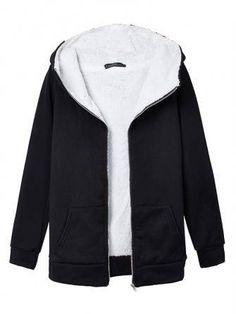 New Korea Women's Fleece Hoodie Swearshirt Thicken Coat - US$14.99