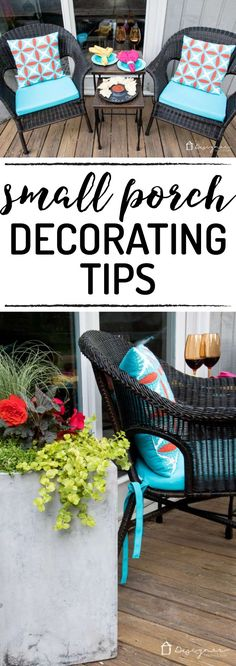 Small Porch Ideas + Reveal OMG--love this! Such great small porch ideas. Makes me want to decorate my small porch ASAP! Small Porch Ideas + Reveal OMG--love this! Such great small porch ideas. Makes me want to decorate my small porch ASAP! Patio Diy, Diy Pergola, Backyard Patio, Pergola Kits, Budget Patio, Pergola Ideas, Railing Ideas, Pergola Roof, Large Backyard