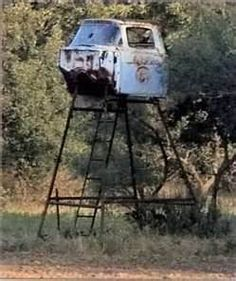 truck cab deer stand