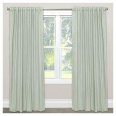 """Linen Blackout Curtain Panel Blue (50""""x108""""), Curtains & Drapes"""