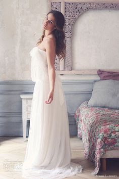 marie laporte 2013 ombeline strapless blouson wedding dress