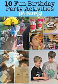 If you are planning a kids birthday party, you have to give some thought to party games and party activities to entertain the guests. So here are 10 fun birthday party activities for tweens! Birthday Party At Home, Birthday Party Games For Kids, Birthday Activities, Party Activities, Birthday Fun, Activities For Kids, School Birthday, Birthday Presents, Easy Kids Party Games