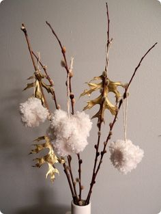 Fluffy Pom-Pom Ornaments   40 DIY Home Decor Ideas That Aren't Just For Christmas