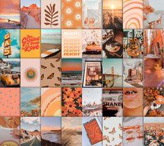 Orange Wall Collage Kit | Etsy