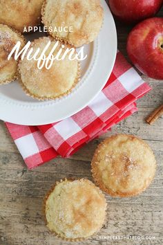 These applesauce muffins are a go-to snack in our family. My kids love it when a fresh batch of these are waiting for them after school. They're easy to make, but that cinnamon sugar topping makes the