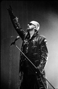 Rob Halford-Judas Priest and Halford. Heavy Metal Rock, Heavy Metal Music, Heavy Metal Bands, Judas Priest, Hard Rock, Metallica, Rob Halford, Defender Of The Faith, Greys Anatomy Memes