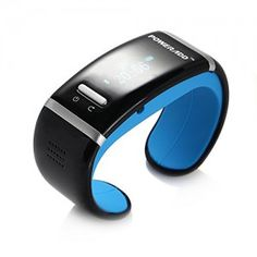 Poweradd™ Bluetooth Bracelet #smartwatch OLED Display, Incoming Call,Digital Time Display,Music Player,Anti-Lost Alarm,Vibration with Most Bluetooth Mobile Phone (Blue) - Never miss any calls!