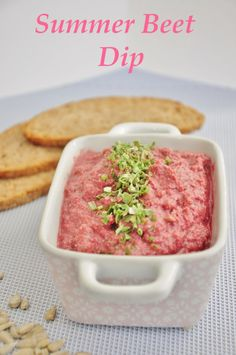 Summer Beet Dip that is sure to become a staple at summer BBQ's. Easy to make and #vegan , #glutenfree , and #paleo