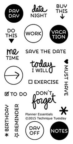 TECHNIQUE TUESDAY: Planner Essentials