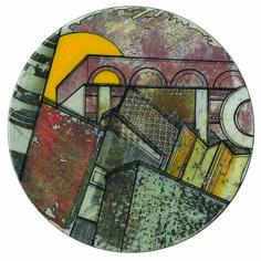 Fanny de La Roncière - Sous-bock - 2014 - Sur sous-bock et bière, papier magazine, ponçage, encre de chine, vernis et laque - Diamètre 10 cm #lamicrogalerie #fannydelaronciere #artcontemporain