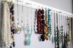 another necklace storage idea