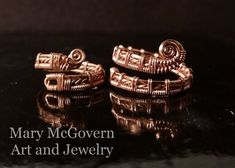 Ring. Jose. Copper. Silver. Wire Wrapped. Jewelry. Handmade. Custom. Metal Jewelry Making, Wire Jewelry Rings, Jewelry Making Tutorials, Copper Jewelry, Jewelry Art, Jewlery, Wire Wrapped Rings, Wire Wrapped Pendant, Handmade Wire