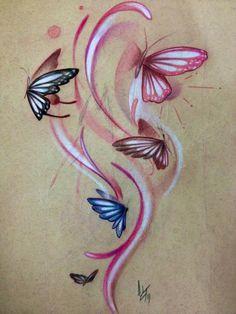Soul Tattoo Original Art Daniel Adamczyk Butterfly Sketch