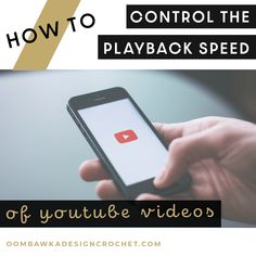 How To Control the Speed of YouTube Videos Quick Tutorial Oombawka Design