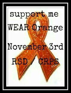 Wear Orange for me please!