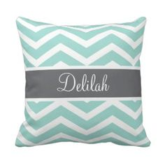 Teal Throw Pillows   Pretty Throw Pillows  Personalized Teal Chevron Throw Pillow with gray ribbon #chevron #tealchevronthrowpillows #prettythrowpillows Teal Throws, Chevron Throw Pillows, Decorative Throw Pillows, Teal Chevron, Grey Ribbon, Teal Green, New Room, Gray, Pretty