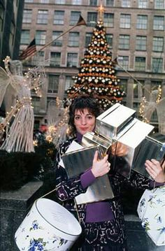 <3  Happy Holidays from Liza Minnelli at Rockefeller Center in New York City, 1970