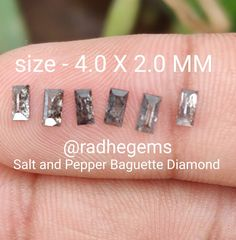 Natural Salt, Salt And Pepper Diamond, Baguette Diamond, Diamond Earrings, Trending Outfits, Unique Jewelry, Handmade Gifts, Kid Craft Gifts, Craft Gifts