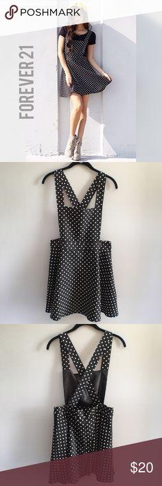 Selling this 🔻SALE🔻 Polka Dot Pinafore on Poshmark! My username is: jasminnn2. #shopmycloset #poshmark #fashion #shopping #style #forsale #Forever 21 #Dresses & Skirts