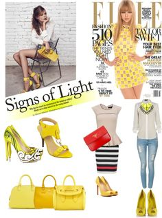 """YELLOW!"" by marlene-reynoso-serrano ❤ liked on Polyvore"