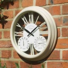 Antique Rust Outdoor Clock And Thermometer | A Moment In Time | Pinterest |  Outdoor Clock, Rust And Clocks