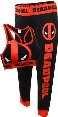 WebUndies.com Marvel Comics Deadpool Bra & Legging Set