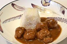 Albóndigas de ternera Carne, Pudding, Beef, Ethnic Recipes, Desserts, Food, Ideas, Salads, Homemade