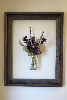 Framed wall hanging vase
