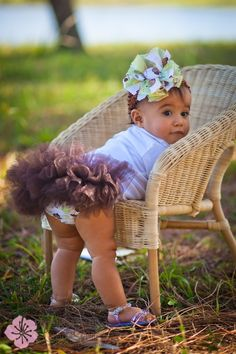 Baby Tutu Pettiskirt Ruffled Diaper Cover by BloominBloomers, $23.00