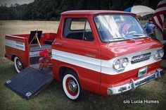She loves her Corvair Rampside-cool story: http://www.mystarcollectorcar.com/3-the-stars/star-truckin/2752-august-2015-1961-corvair-rampsideroamin-the-perfect-birthday-present.html #61Corvair #Rampside