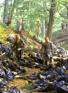 Lothlorien, Haldir and the Galadrim defeat the Orcs photo unusedscene216outsideLorienOrcattac.jpg