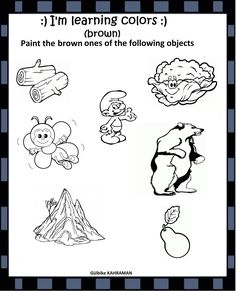 Brown Paint, Learning Colors, Kindergarten Worksheets, Classroom, Class Room, Brown Paint Colors