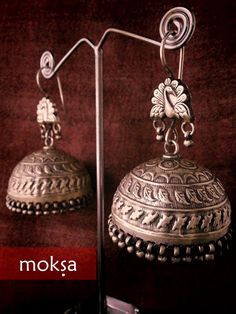Antique SIlver Jhumkas Jewellery Collection