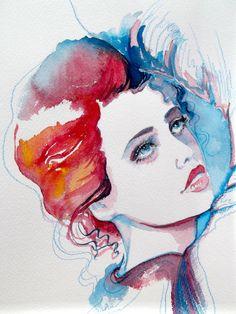 Original Fashion Watercolor - Fashion Style Illustration - Watercolor Painting by Lana - Modern Wall Art.