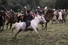 Reenactment: Battle of Hastings 1066 Hastings 1066, Anglo Saxon Kings, English Army, Duke William, Norman Conquest, French Army, 11th Century, East Sussex, Middle Ages