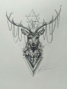 animal tattoos deer Lower Back Tattoos - Deer Skull Tattoos, Deer Skulls, Animal Tattoos, Antler Tattoos, Dotwork Tattoo Mandala, Underboob Tattoo, Foot Tattoos, Body Art Tattoos, Sleeve Tattoos