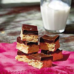 Chocolate-Peanut Bars - Best-Loved Cookie Recipes and Bar Recipes - Southern Living