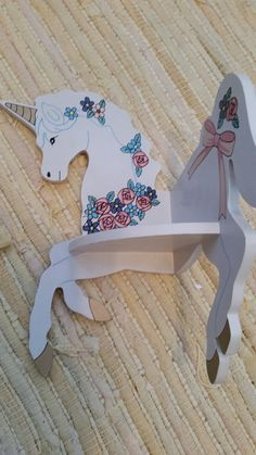 Vintage Unicorn Small Corner Shelf 1980s Wall by MyYiayiaHadThat
