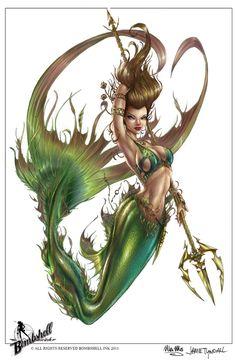Mermaid, J. Tyndall by *sinhalite on deviantART