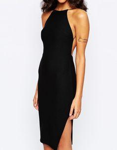 Boohoo | Boohoo Crepe Body-Conscious Midi Dress at ASOS