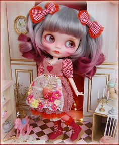 Lamurica ◆◇ カスタムブライス ◇◆ Gingham strawberry_画像2