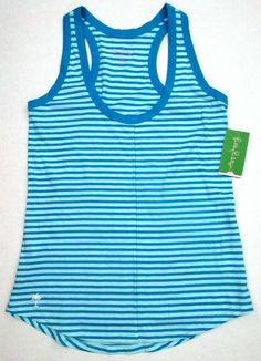 LILLY PULITZER Small WHITNEY Ariel Blue GIMME A STRIPE TANK Top NWT Sm S #LillyPulitzer #KnitTop #Casual