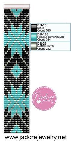 """Résultat de recherche d'images pour """"free templates bead loom patterns for bracelets"""""""