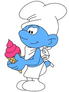 Gelato Smurf the gelato maker
