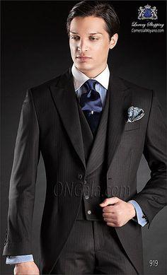 Traje de novio Chaqué negro 919 ONGala Wedding Morning suit
